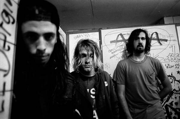 Dave Grohl Wall Art - Photograph - Nirvana Posed In Frankfurt 1991 by Paul Bergen