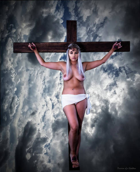 Wall Art - Photograph - Nordic Female Jesus V by Ramon Martinez