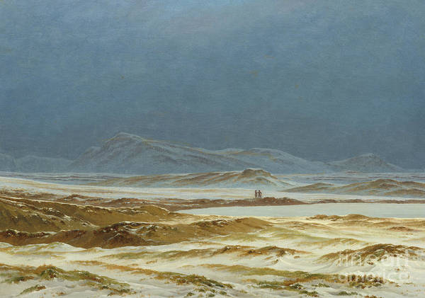 Wall Art - Painting - Northern Landscape, Spring by Caspar David Friedrich