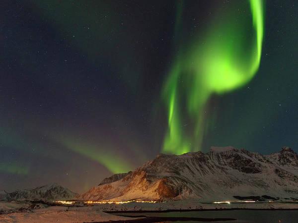Wall Art - Photograph - Northern Lights Over Flakstadoya by Martin Zwick