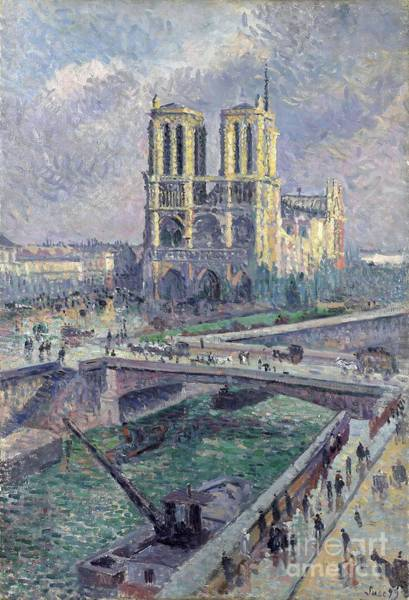Wall Art - Painting - Notre Dame by Maximilien Luce