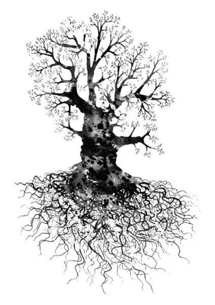 Wall Art - Digital Art - Oak Tree by Erzebet S