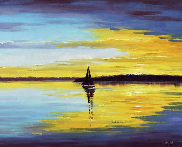 Wall Art - Painting - Ocean Sunset by Graham Gercken