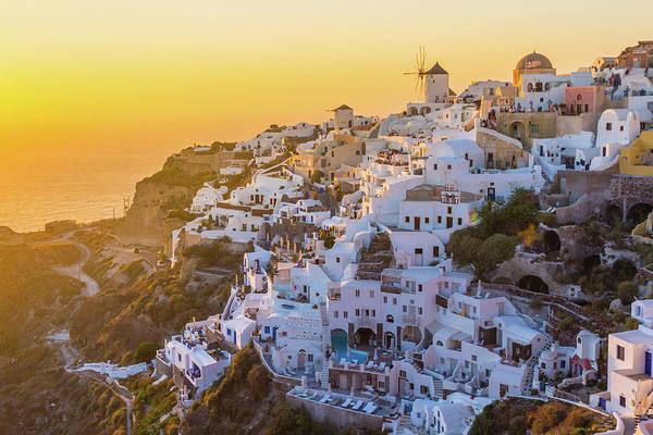 Photograph - Oia Village, Santorini Island, Greece by Deimagine