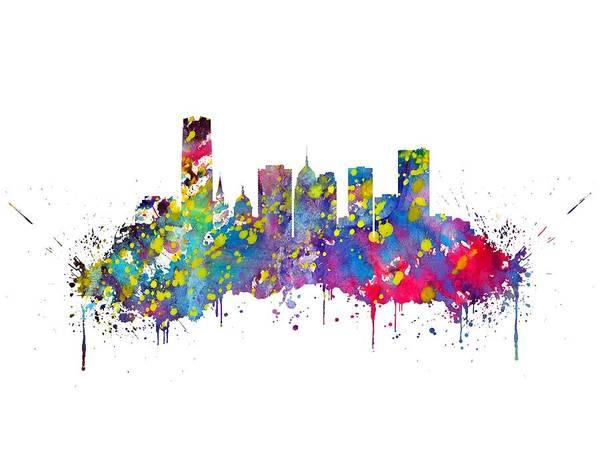 Wall Art - Digital Art - Oklahoma City by Erzebet S