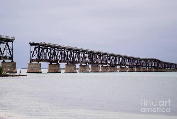 Flagler Photograph - Old Bahia Honda Bridge by Tracy Knauer