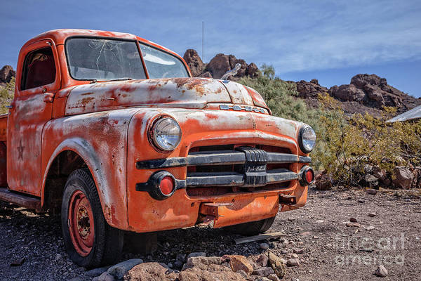 Photograph - Old Dodge Truck In The Desert by Edward Fielding
