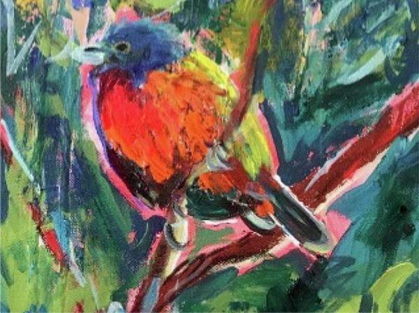 Wall Art - Painting - Painted Bunting by Ann Lutz