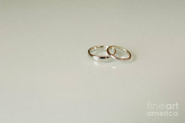 Wall Art - Photograph - Pair Of Elegant Wedding Rings by Joaquin Corbalan