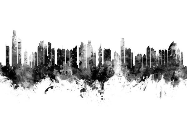 Wall Art - Digital Art - Panama City Skyline by Michael Tompsett