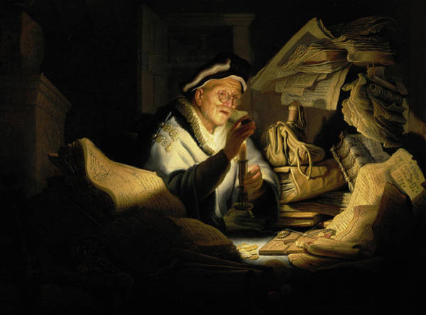 Saving Painting - Parable Of The Rich Man by Rembrandt Van Rijn