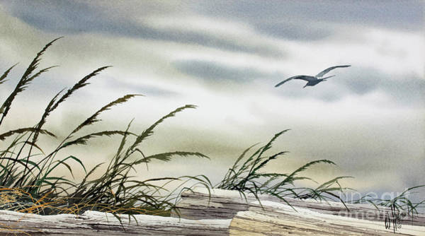 Wall Art - Painting - Peaceful Shore by James Williamson