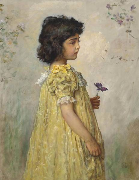 Painting - Pensive by John Everett Millais