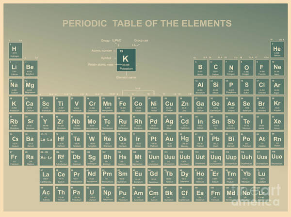 Wall Art - Digital Art - Periodic Table Of The Elements With by Charobnica