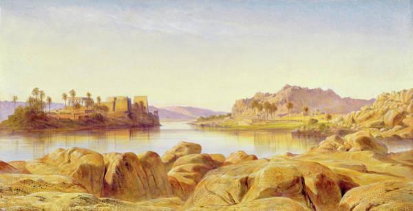 Philae Painting - Philae, Egypt by Edward Lear