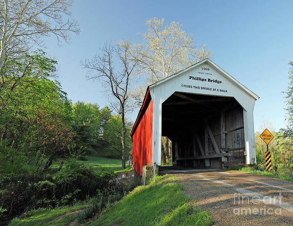 Wall Art - Photograph - Phillips Covered Bridge, Indiana by Steve Gass