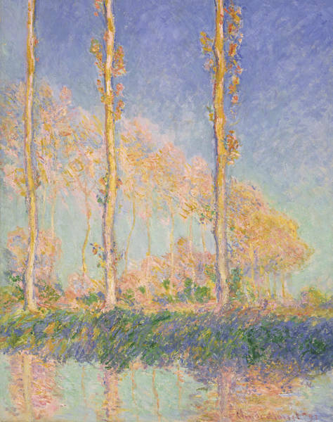 Painting - Poplars, 1891 by Claude Monet