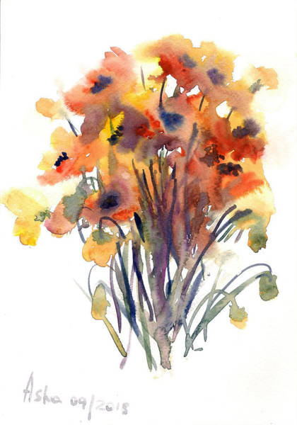 Wall Art - Painting - Poppies by Asha Sudhaker Shenoy