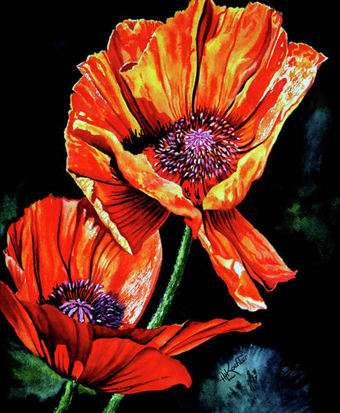 Wall Art - Painting - Poppies by Hanne Lore Koehler