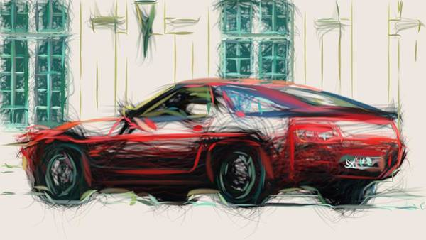 Wall Art - Digital Art - Porsche 928 S Draw by CarsToon Concept