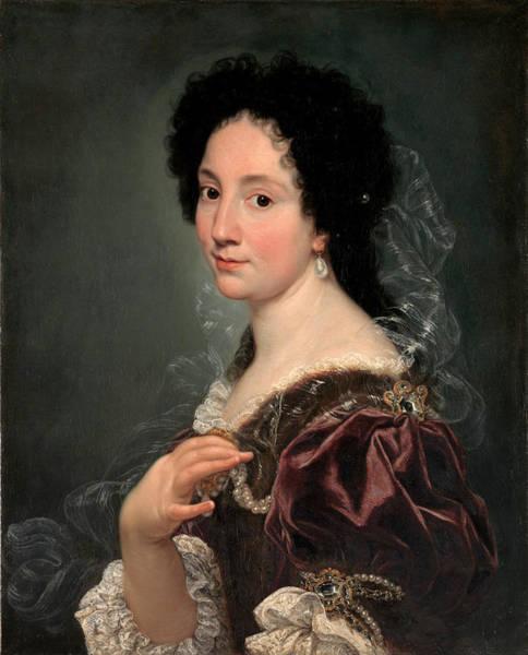 Painting - Portrait Of A Woman by Giovanni Battista Gaulli