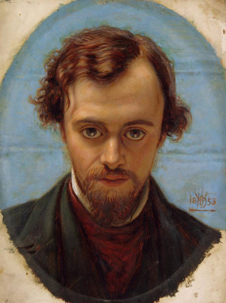 Wall Art - Painting - Portrait Of Dante Gabriel Rossetti At 22 Years Of Age by William Holman Hunt