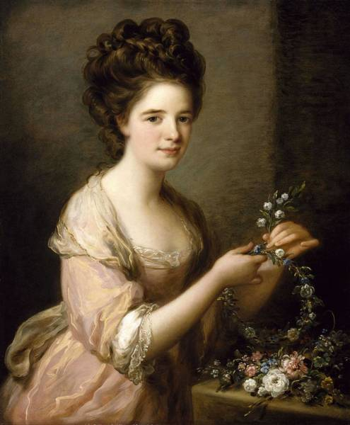 Wall Art - Painting - Portrait Of Eleanor  Countess Of Lauderdale  by Angelica Kauffmann
