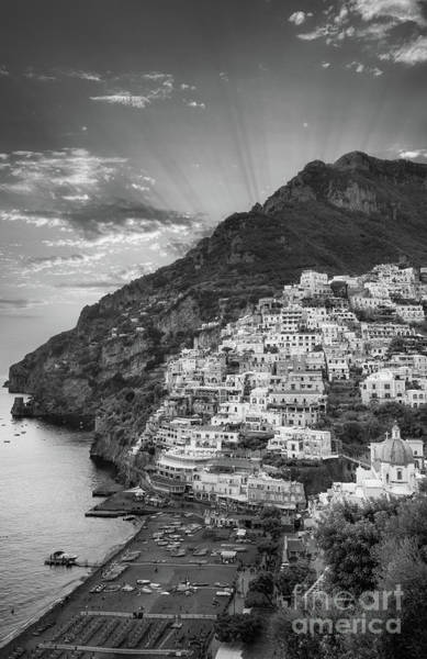 Wall Art - Photograph - Positano Sunset by Inge Johnsson