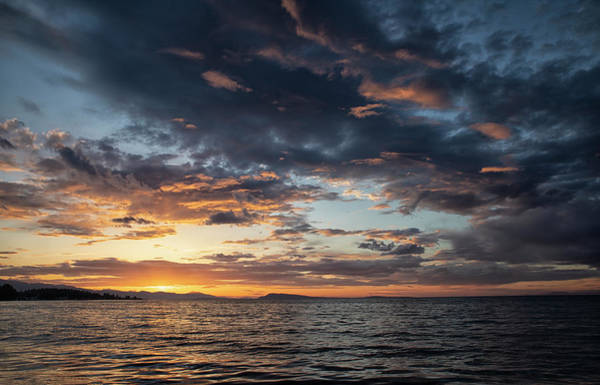Photograph - Qualicum Sunset by Randy Hall
