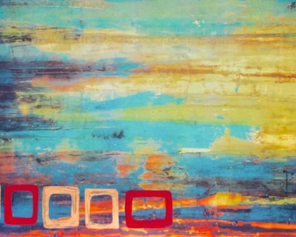 Avondet Wall Art - Digital Art - 2 Red 2 Gold by Natalie Avondet