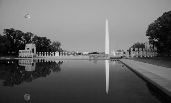 Washington D.c Painting - Reflection Of The Washington Monument In The Pool At Pool At The National Mall. Original Image From  by Celestial Images