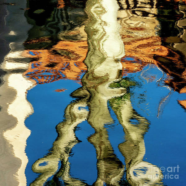Wall Art - Photograph - Reflection On Water, Abstract by Bernard Jaubert