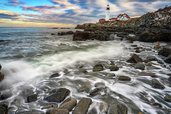 Photograph - Rising Tide At Portland Head by Rick Berk