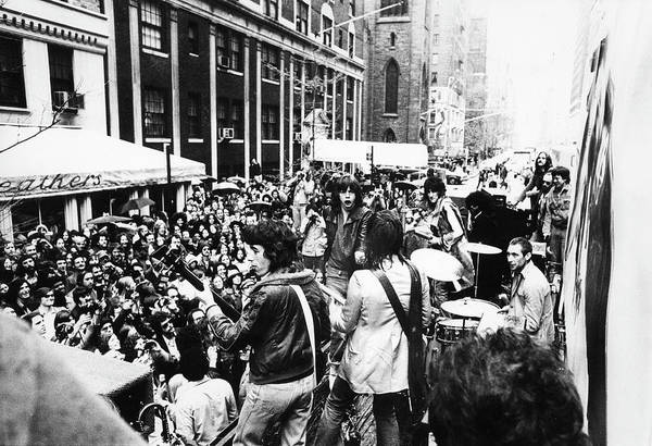 Recording Photograph - Rolling Stones On Fifth Avenue by Fred W. McDarrah