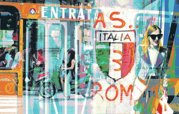 Alitalia Wall Art - Mixed Media - Roma by Shay Culligan