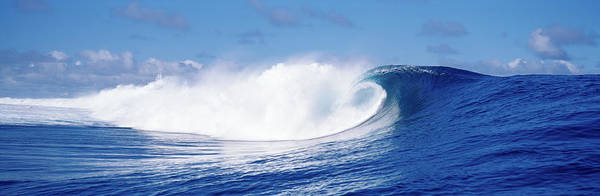 Wall Art - Photograph - Rough Waves In The Sea, Tahiti, French by Panoramic Images