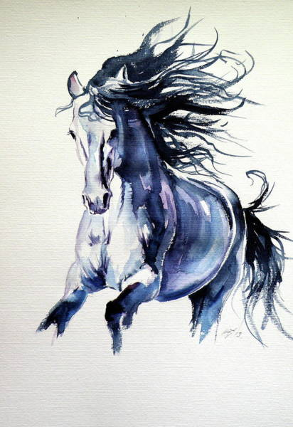 Wall Art - Painting - Running Horse by Kovacs Anna Brigitta