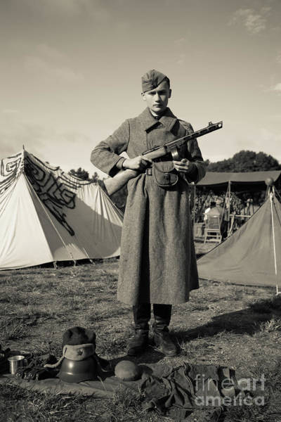 Wall Art - Photograph - Russian Soldier World War II by Edward Fielding