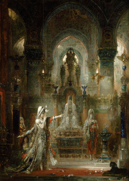 Wall Art - Painting - Salome Dancing Before Herod by Gustave Moreau
