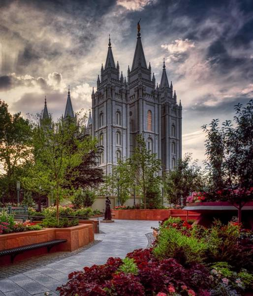 Wall Art - Photograph - Salt Lake Temple by Mountain Dreams