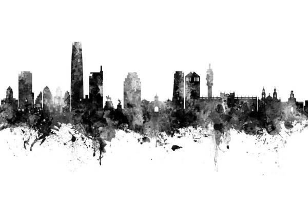 Santiago Wall Art - Digital Art - Santiago De Chile Skyline by Michael Tompsett
