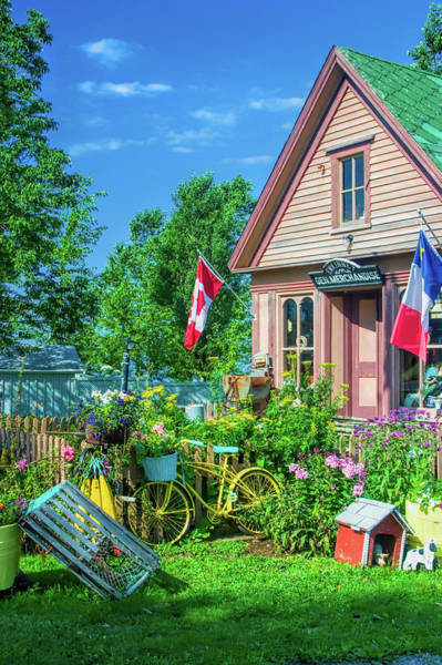 Maritime Provinces Photograph - Scenic Garden And Antiques Store by David Smith