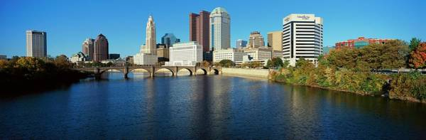 Scioto River And Columbus Ohio Skyline Art Print by Visionsofamerica/joe Sohm