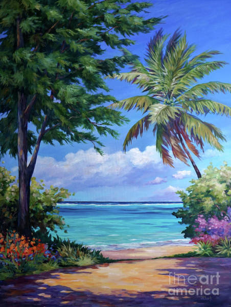 Brac Painting - Secret Beach by John Clark