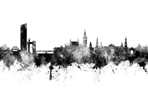 Wall Art - Digital Art - Sevilla Spain Skyline by Michael Tompsett