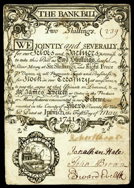 Wall Art - Photograph - 2 Shilling Massachusetts Colonial Money 1741 by Daniel Hagerman