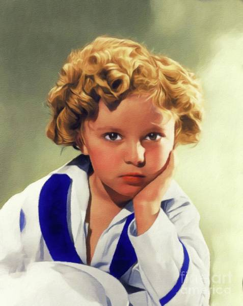 Wall Art - Painting - Shirley Temple, Vintage Actress by John Springfield
