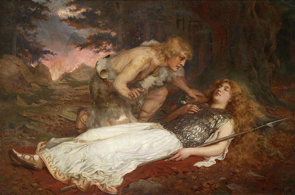Wall Art - Painting - Siegfried And Brunnhilde by Charles Ernest Butler