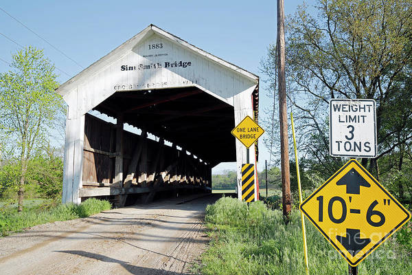 Rockville Photograph - Sim Smith Covered Bridge, Indiana by Steve Gass