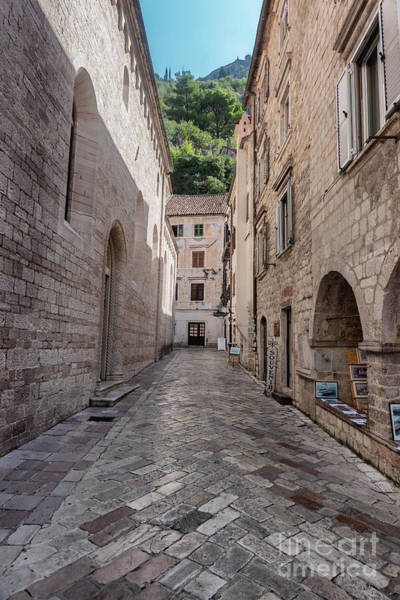 Budva Photograph - Small Streets And Shops In Kotor City In Montenegro by Frank Bach